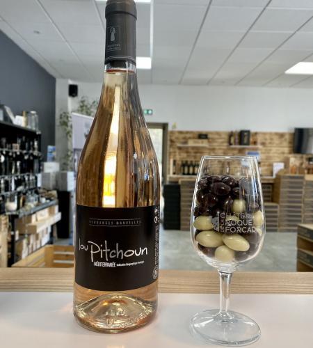 22€ ttc Vin + 150grs chocolat + 1 verre